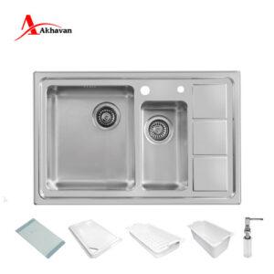 سینک ظرفشویی توکار اخوان مدل 376 سری R25